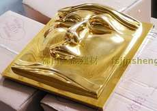 Face mask gold-plated silver plated embossed art background wall * resin wall * KTV hotel high-grade wall