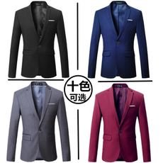 Spring business suit men's small suit plus fertilizer XL professional wear fat people large casual jacket shirt men