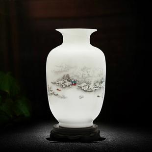 景德镇陶瓷器小花瓶家居饰品摆件插花客厅电视柜装饰工艺品摆设j7