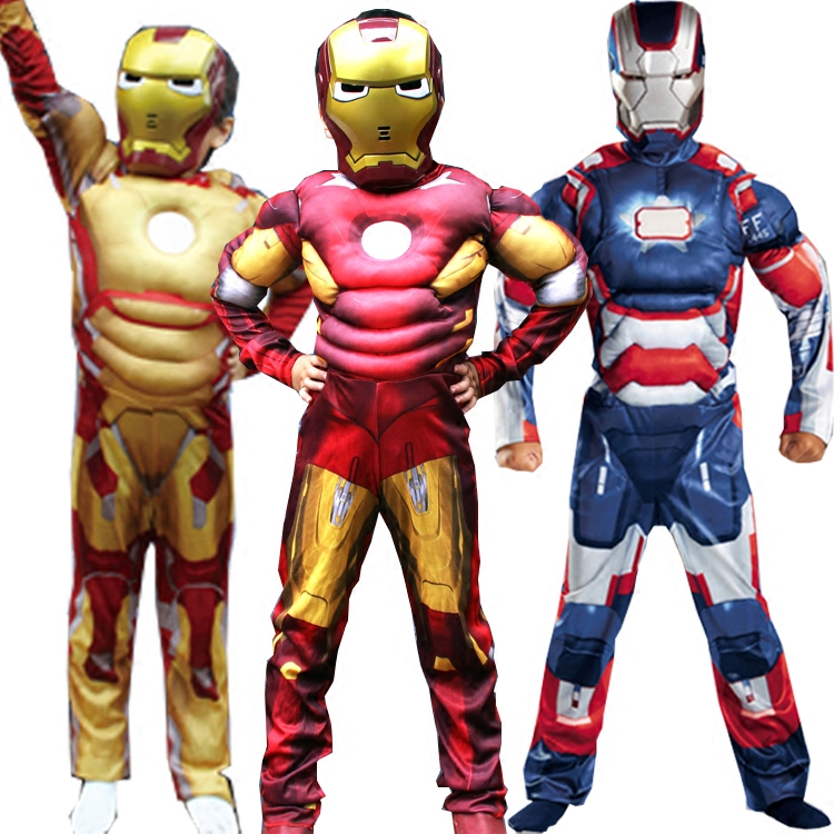 万圣节儿童cosplay肌肉款钢铁侠衣服复仇者联盟表演演出服装男童