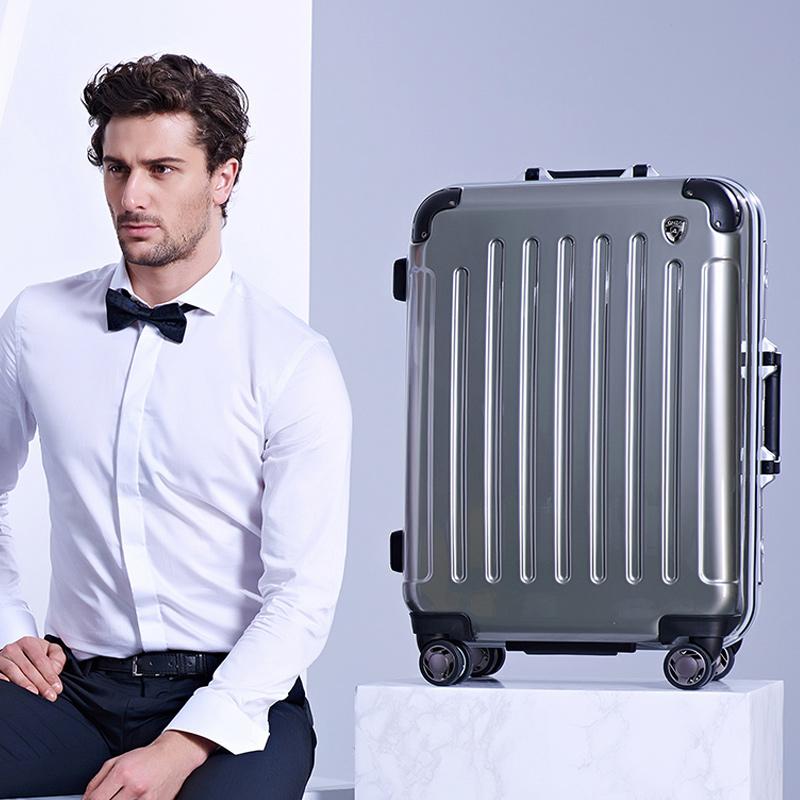 银座拉杆箱飞机轮旅行箱 行李箱登机箱密码锁箱男女 20寸24寸28寸