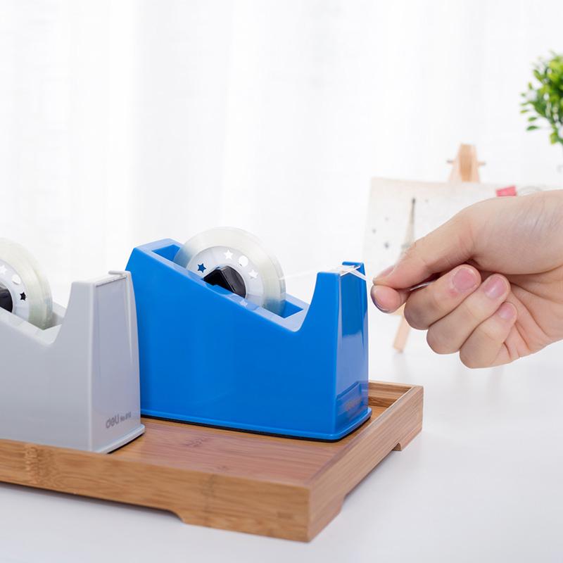得力810大号胶带座胶纸机胶带切割器透明胶带切割机底座