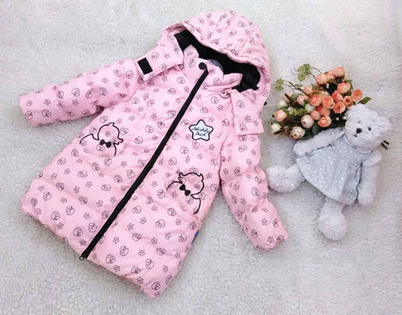 Mid-Autumn Festival specials 2014 new Jack Danny female children baby long cute down jacket DG6022