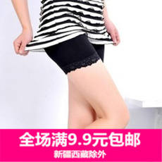 0710 Korean leggings ice silk three-point leggings thin summer safety pants prevent walk out shorts tide female