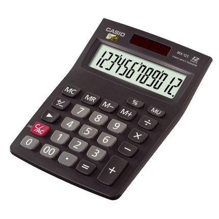 Casio卡西欧商务计算机 小型机12位数太阳能计算器 MX-12S