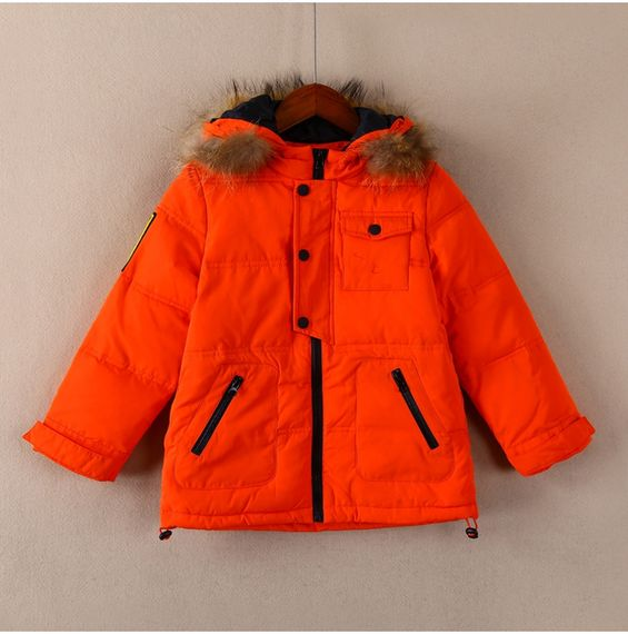 Children's wear high-end strong goods autumn 33 0645 men and women solid color hooded fur collar cotton clothes