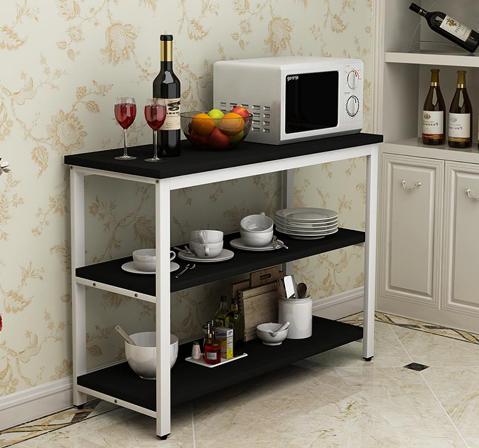 桌子厨房桌切菜桌操作台微波炉架多功能置物架长桌厨房桌家用定做