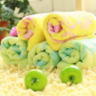 竹纤维卡通儿童毛巾 可爱童巾 宝宝专用洗脸巾 柔软抗菌亲肤