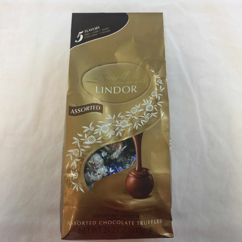 【小女人美国直邮】Lindt Lindor五种口味巧克力袋装600g