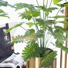 北欧ins仿真绿物盆栽室内龟背叶竹客厅落地盆景装饰树假植物摆件