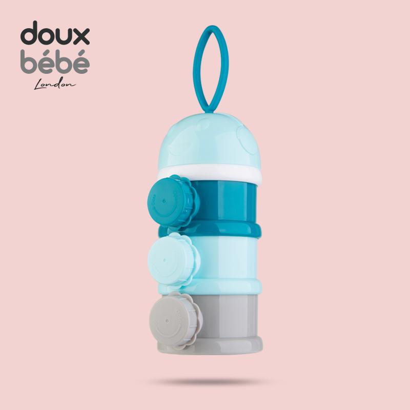英国Douxbebe奶粉盒便携外出迷你小号装奶粉格婴儿两用奶粉分装盒