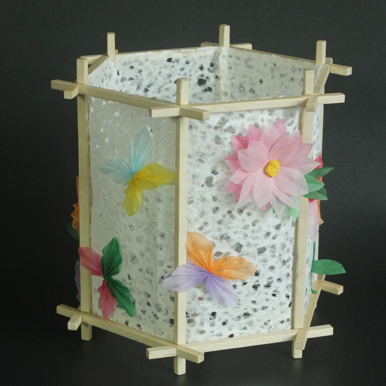 元宵节彩花球灯笼diy材料包 创意幼儿园儿童手提手工发光自制作纸