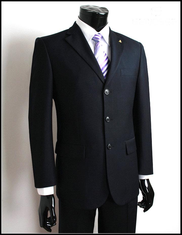 男装西服套装职业装商务正装三扣西装工装工作服特大号西服超大码