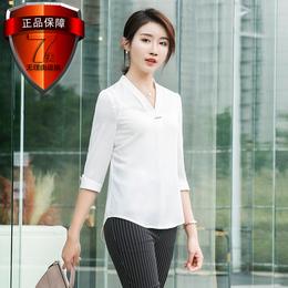 高档名牌职业女套裙短袖衬衣套装夏装韩版寸衫工作服正装OL制服美