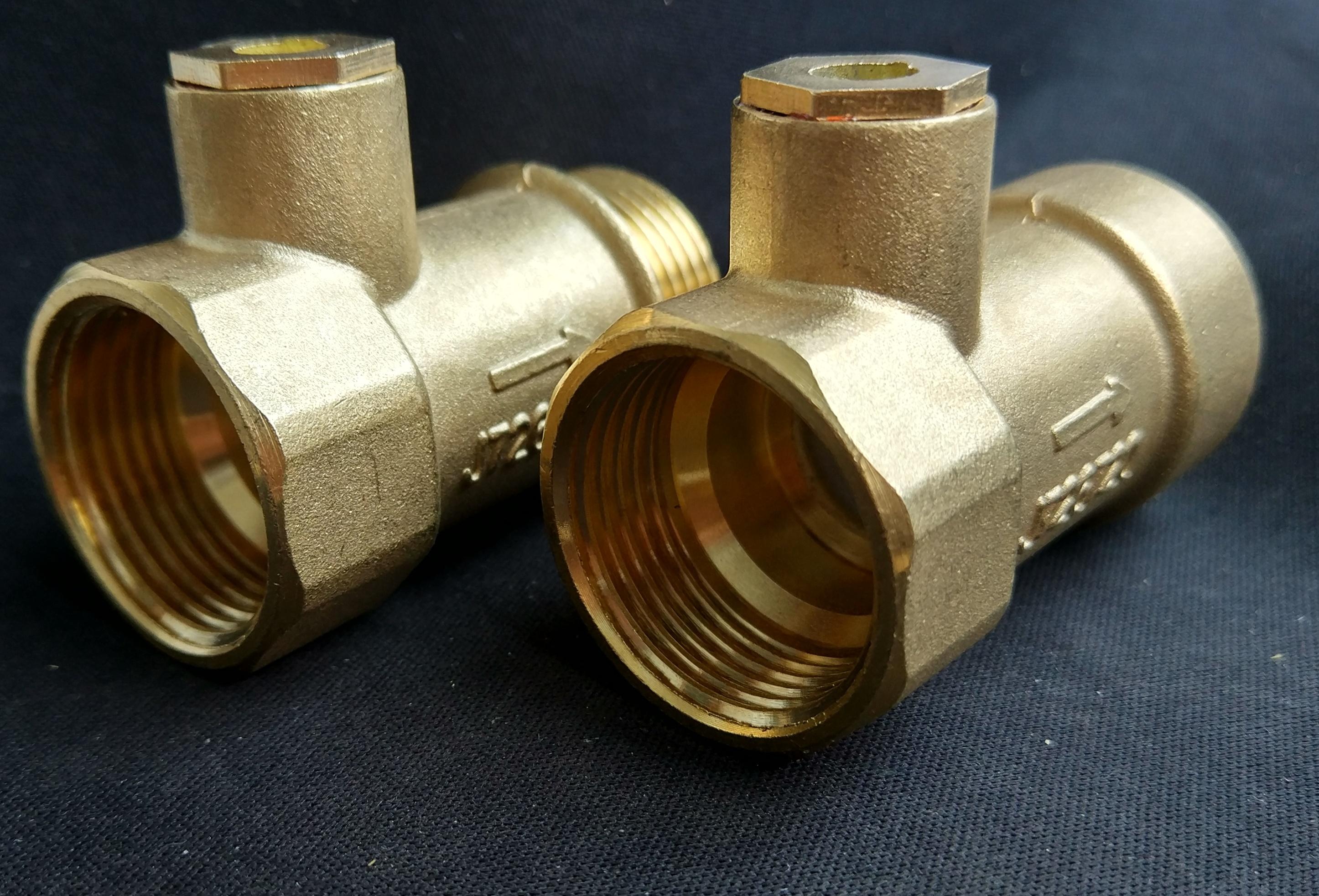 止回阀无塔供水器压力罐箱二合一补气逆止阀铜单向带丝防回流止水图片
