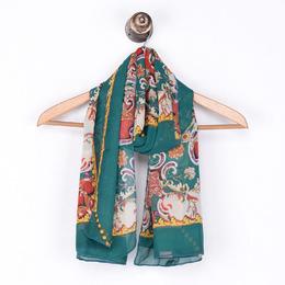 女士围巾2018秋季新款韩版时尚波西米亚民族风KF1365防晒旅游丝巾