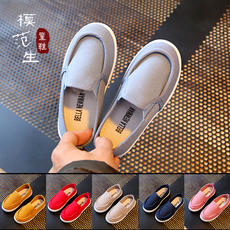Breathable single shoes canvas shoes spring and summer canvas shoes children shoes small white shoes boys shoes girls 1-5 years old children canvas shoes