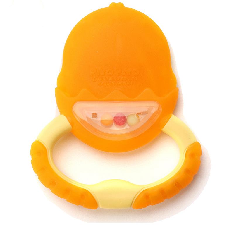黄色小鸭 双色造型固齿器婴儿硅胶咬咬牙齿训练器830437