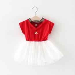 2018夏季童装0-1-2-3岁儿童女宝宝夏装裙子女童连衣裙婴儿公主裙