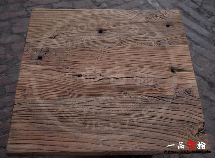 天然风化老榆木板实木桌面复古珠宝翡翠拍摄道具创意地板背景墙