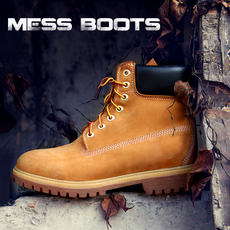 Autumn Martin boots men British tooling short boots thick bottom men's tide shoes not bad leather rhubarb boots men