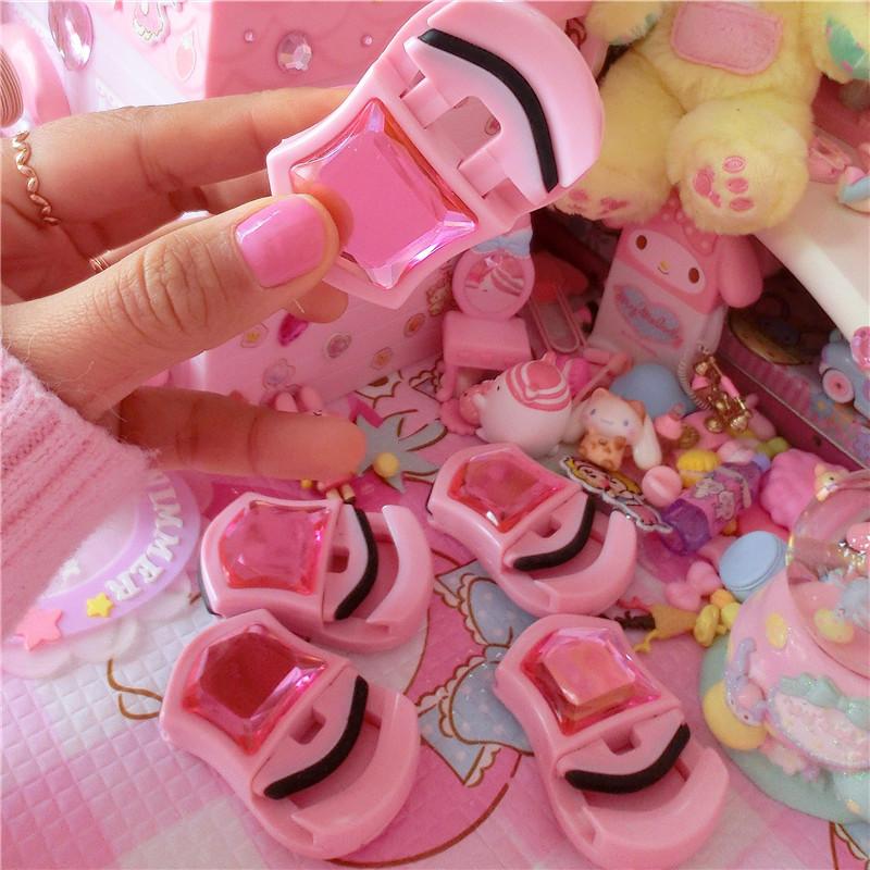 粉色钻石版迷你小巧学生便携睫毛夹卷睫毛器便携辅助睫毛夹