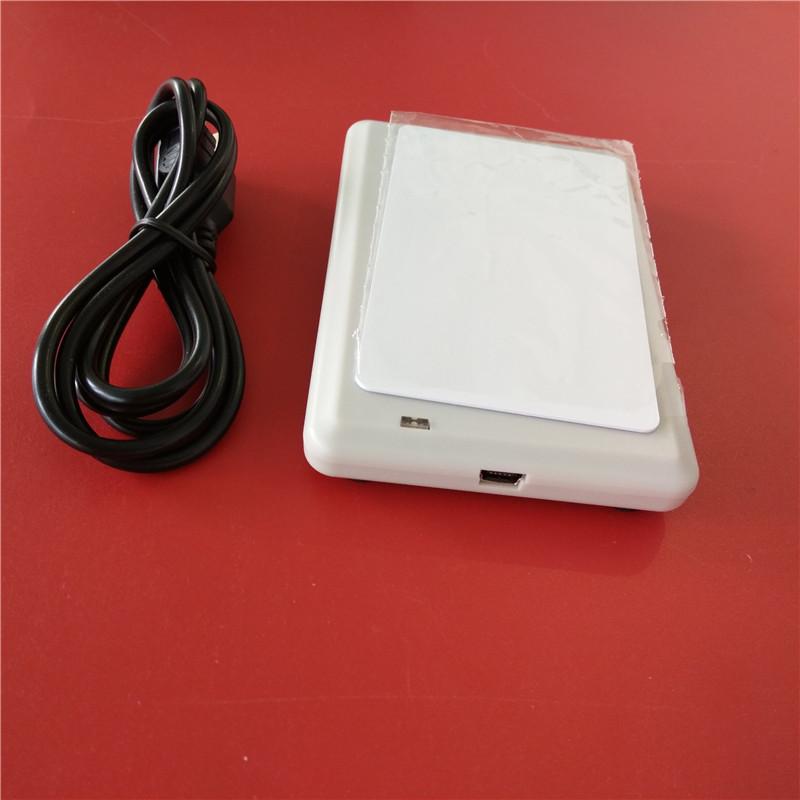 超高频USB读卡器桌面式发卡机近场RFID读写器写码器UHF写卡器标签