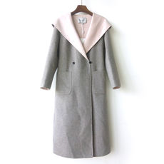 Double-faced cashmere coat European and American long winter double-faced coat coat 2001