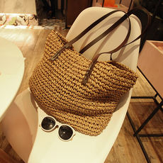 Custom vacation Mori girl Department School Shoulder Weave bags Four seasons Travel Wild straw package