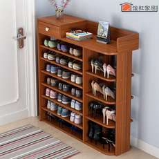 Household wall storage shoe rack home storage cabinet fresh multi-use home home shoe cabinet vertical beautiful and durable