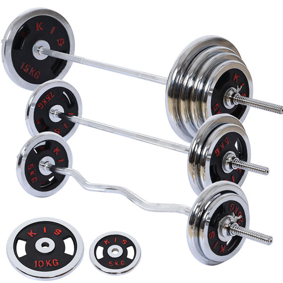 Fitness equipment plating 扛 蹲 蹲 蹲 barbell men and women 100kg50 lbs due to the bar weightlifting barbell set home