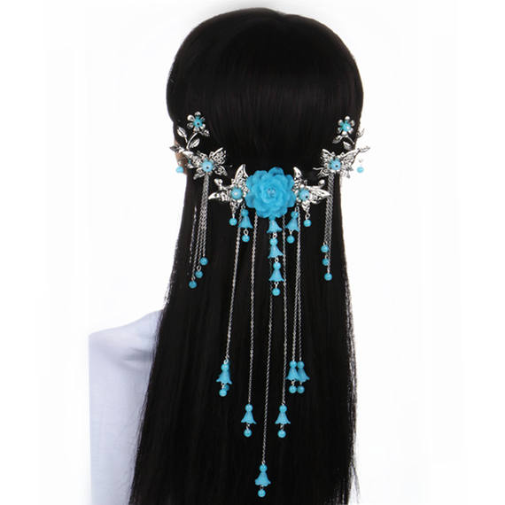 Vintage handmade hairpin step tassels classical hair accessories Hanfu cheongsam hair head jewelry dance dance costume