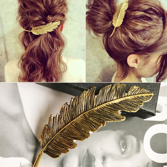 New wild leaves hairpin adult headdress fresh lady hair accessories elegant hairpin clip clip clip