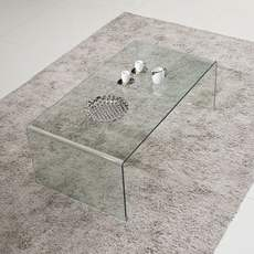 Coffee table glass living room simple modern small apartment tea table rectangular simple coffee table table creative office kung fu