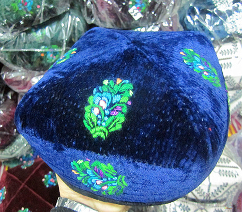 新款新疆维吾尔族手工制作和田古老的花色帽礼品男帽子特价
