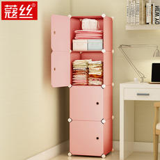 Simple wardrobe simple female student dormitory modern economy single small bedroom assembly wardrobe storage combination