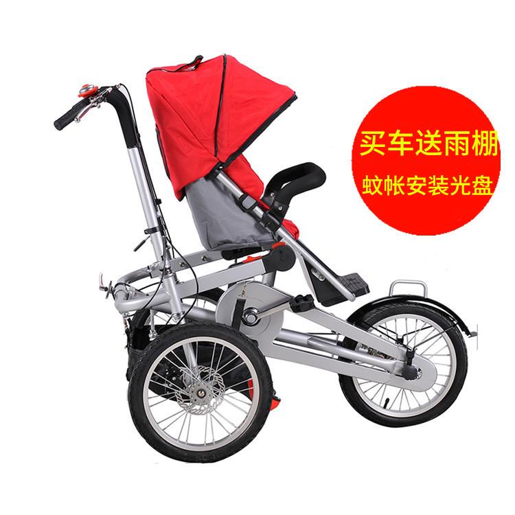 正品锐拓亲子车母子车母婴车轻便折叠自行车宝宝小孩婴儿手推车