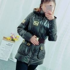 2017 autumn and winter new winter down jacket female long section tide tide waist was thin fashion hooded jacket