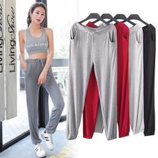 2018 new modal big size loose pants female thin section was thin haren trousers yoga pants casual sweatpants
