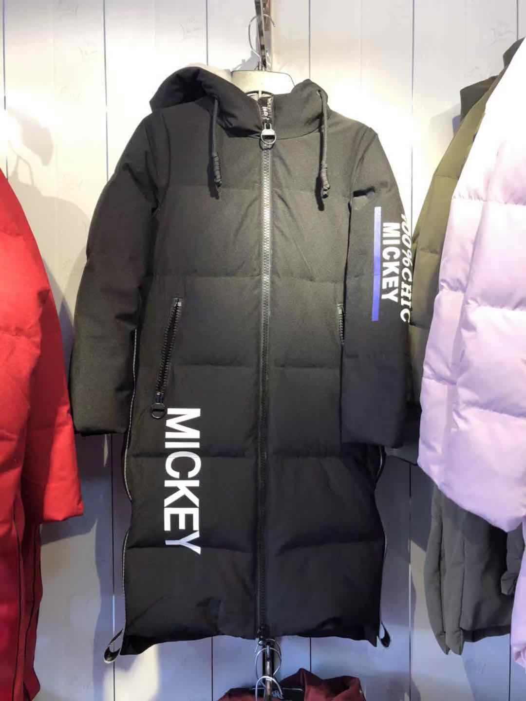 波司登迪士尼系列米奇冬运动中长款羽绒服女潮时尚休闲B70142170d