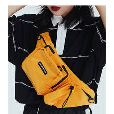 F426 Tide brand Black Shoulder Diagonal Backpack Men and women Lovers Pocket Sports Street Trend Small bag