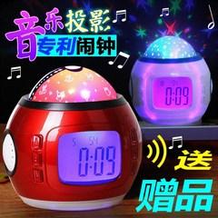传光非USB可充电夜光静音学生床头闹钟 多功能智能数字音乐电子时