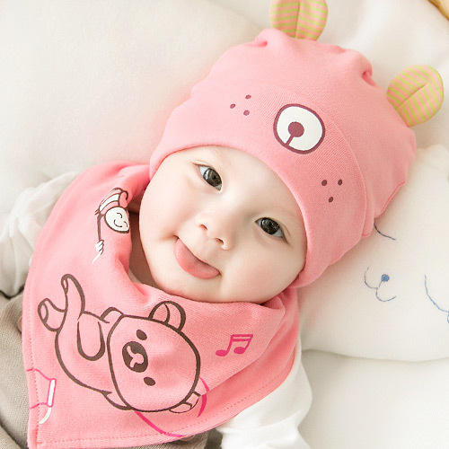Baby hat spring and autumn thin section 0-3-6-12 months newborn baby cap men and women baby winter cotton pullover cap