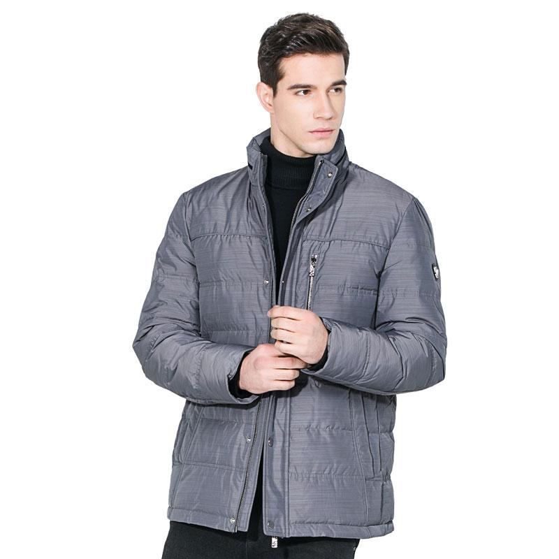 2017新款冬季男士立领羽绒服休闲保暖防寒服纯色羽绒外套