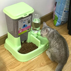 Cat supplies automatic feeder cat bowl double bowl automatic drinking water pet automatic feeding dog bowl dog supplies