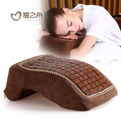 爱之舟夏天竹粒记忆棉午休枕办公室午睡枕靠垫学生趴睡枕趴趴枕头
