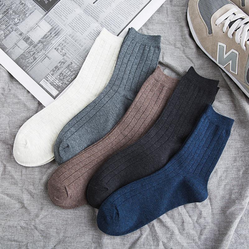 袜子男士中筒长袜潮流韩版街头学院风四季运动吸湿排汗纯棉袜秋冬