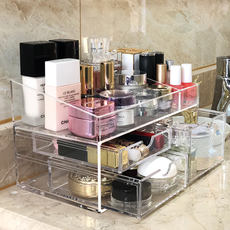 Desktop cosmetics storage box lipstick rack dressing table acrylic girl skin care finishing drawer jewelry storage