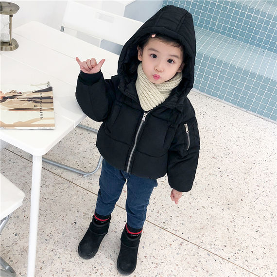 Children's anti-season clothes men and women baby down jacket liner warm thick cotton jacket children short winter coat