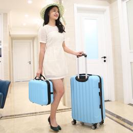 韩版行李箱女子母箱万向轮拉杆箱小清新旅行箱24寸男密码箱20寸拖